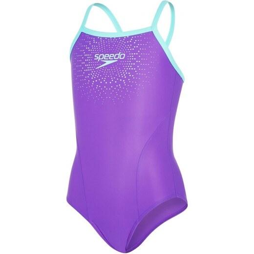 952d64ebd Speedo Gala Logo Thinstrap Muscleback Junior Violet/Spearmint 26 - Glami.sk