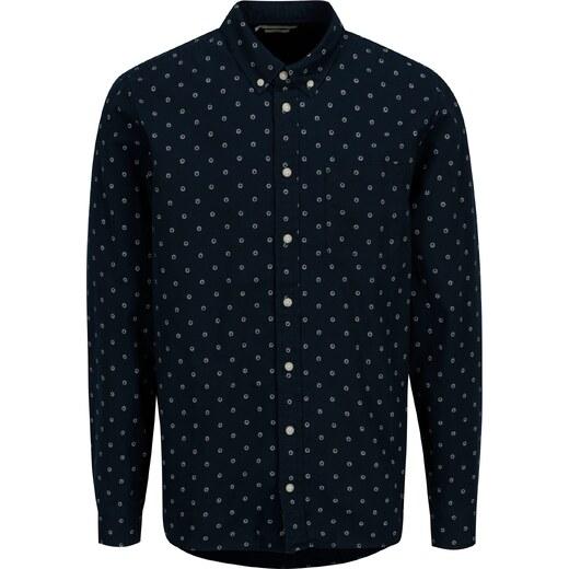38a1f1d83e0 Tmavě modrá vzorovaná slim fit košile Casual Friday by Blend - Glami.cz