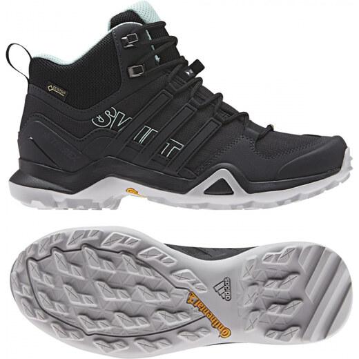 a8cd06bd818a Dámske členkové topánky adidas Performance TERREX SWIFT R2 MID GTX W (Čierna    Zelená) - Glami.sk