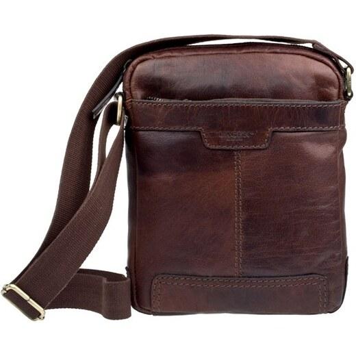 Lagen LN 20654 hnědá kožená taška přes rameno - Glami.cz 8b5e6170d30