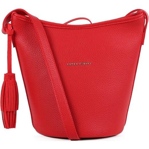 e886e192639 Červená kabelka z koženky Laura Ashley Loxford - Glami.cz