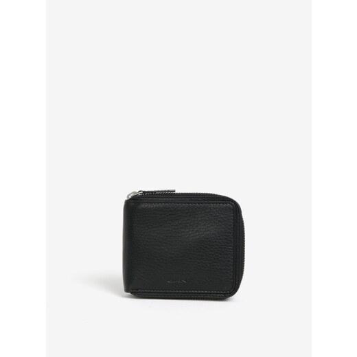 6d2e01148e Čierna pánska kožená peňaženka na zips GANT - Glami.sk