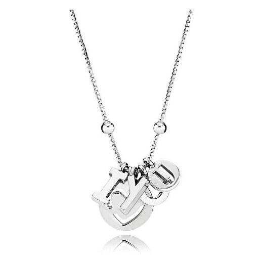 Pandora Romantický náhrdelník I love you 396580 - Glami.cz 7bcfc8f8861