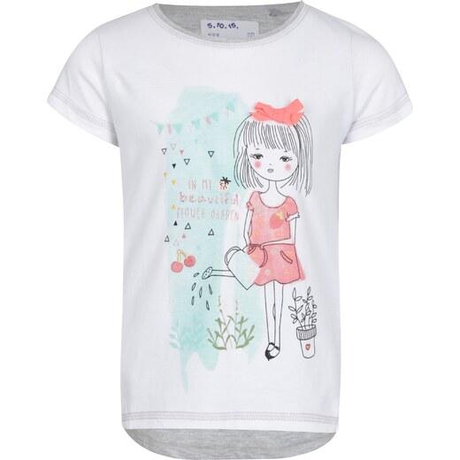 15bffcda4c1a Sivo-krémové dievčenské tričko s potlačou a výšivkou 5.10.15. - Glami.sk