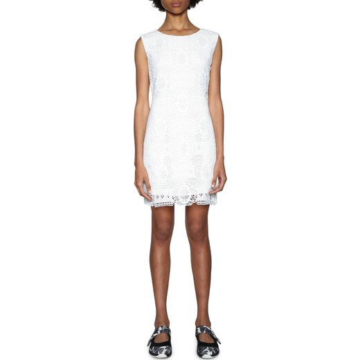 42a65d6923 Desigual fehér ruha csipkével Liliana - Glami.hu
