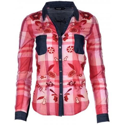 Desigual dámská košile S červená - Glami.cz 190e35aa2f