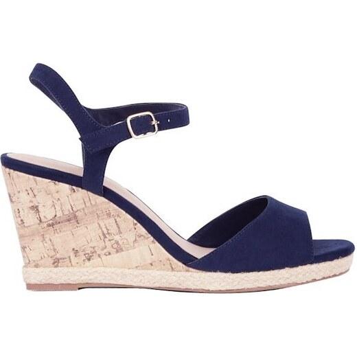 c79fef8726 NEW LOOK Semišové sandále na klinovom podpätku - Glami.sk
