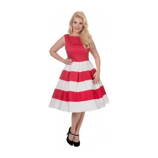 Dámské retro šaty Dolly and Dotty Anna červené s bílou Dolly and Dotty V332  - Glami.cz 9d5cf056a8