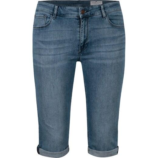 d8173a909bf6 Modré dámske slim fit rifľové kraťasy s vysokým pásom Cross Jeans - Glami.sk