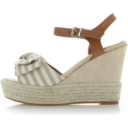 Ideal Béžové sandále Nataly - Glami.sk 96eaf776fbb