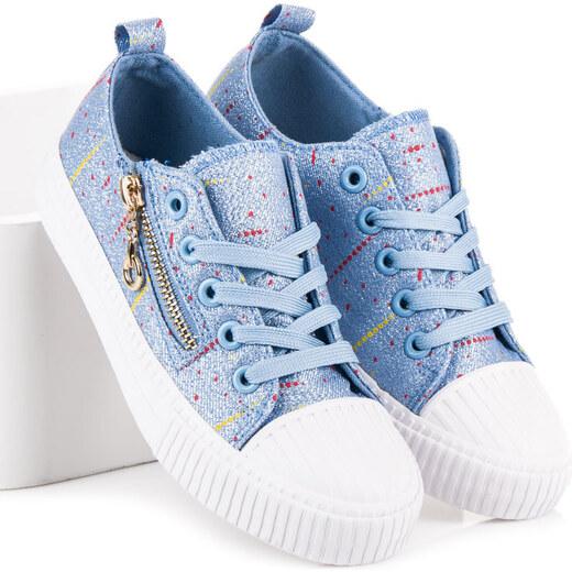 CNB Trblietavé modré detské tenisky so zipsom - Glami.sk 3680003955a