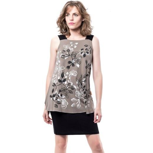Mamatayoe Falúa Dámské krátké šaty světle hnědé - lupe - Glami.cz 9c9799346e