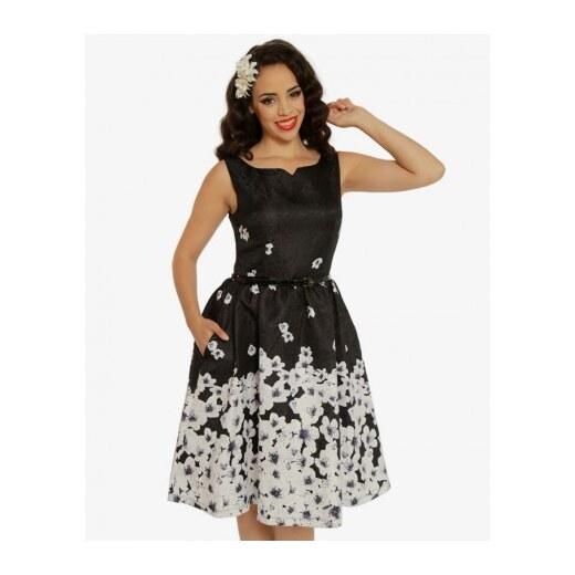 Dámské retro šaty Delta Black Blossom Floral Lindy Bop 5056041 - Glami.cz 2ac128c00d6