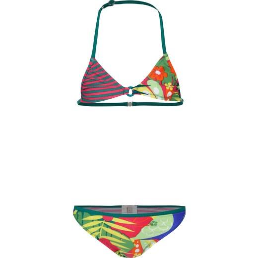 Růžovo-zelené dvoudílné holčičí plavky s potiskem BÓBOLI - Glami.cz 54918ebdd8