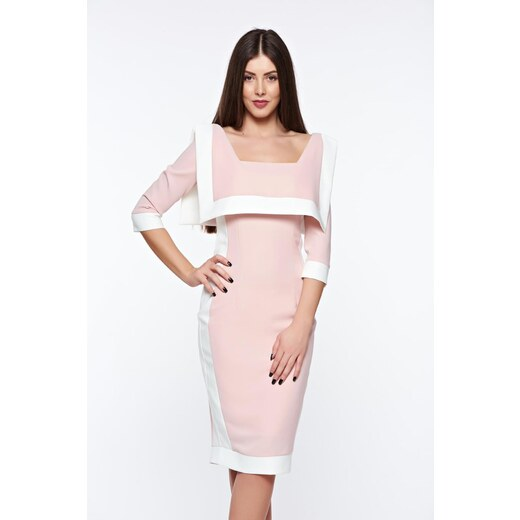 a7abe552d0 Rózsaszínű StarShinerS elegáns ceruza ruha rugalmas és finom anyag -  Glami.hu