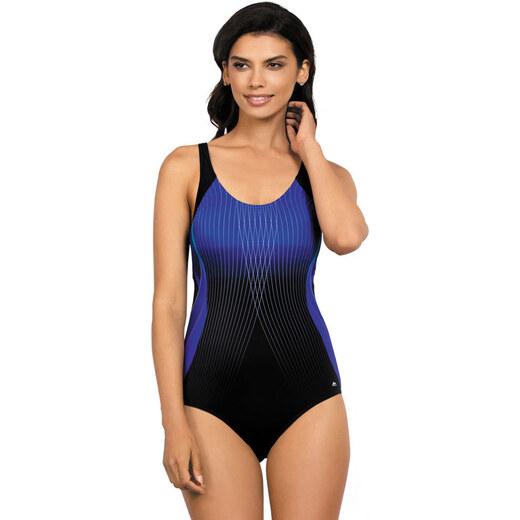 7589683bf Self Dámske jednodielne plavky Anika tmavo modré s čiernou - Glami.sk