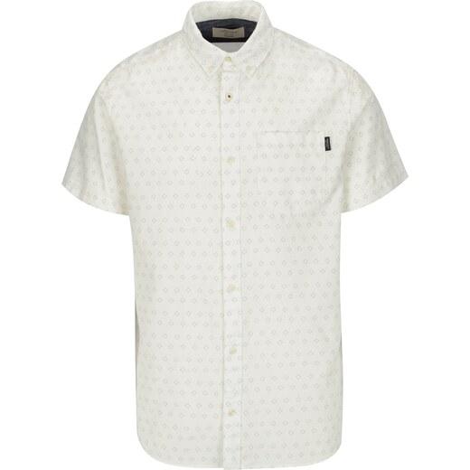 Krémová vzorovaná košile Jack   Jones Premium Murtough - Glami.cz 017a8ce627