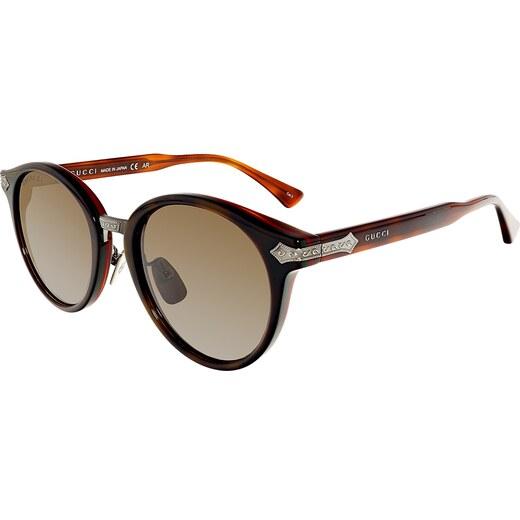 Gucci Anti-reflective GG0066S-001-50 Brown Round - Glami.hu dac025233f