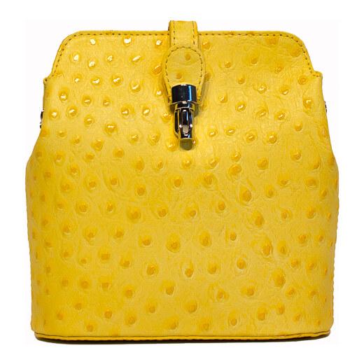 59d891244cbe Diva Természetes bőr Sárga Táska cod. P2280-Yellow - Glami.hu