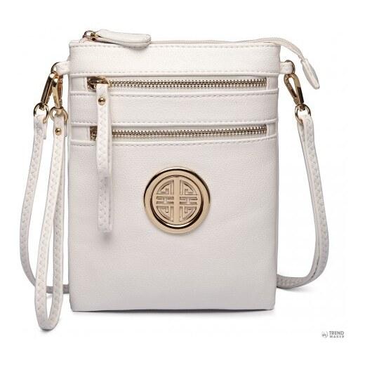 dda75328f3 Miss Lulu London L1417 - Miss Lulu Cross Body tartó táska fehér - Glami.hu