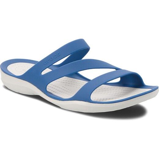 09364b3b5d Šľapky CROCS - Swiftwater Sandal W 203998 Blue Jean Pearl White - Glami.sk