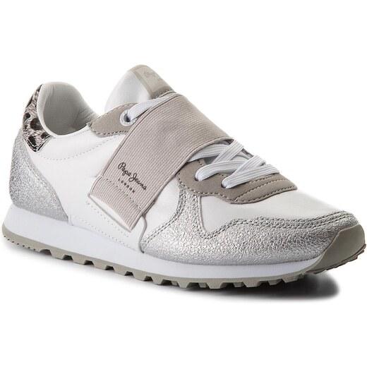 1f8fa54ecdc Sneakersy PEPE JEANS - Verona W Elastic PLS30624 White 800 - Glami.cz