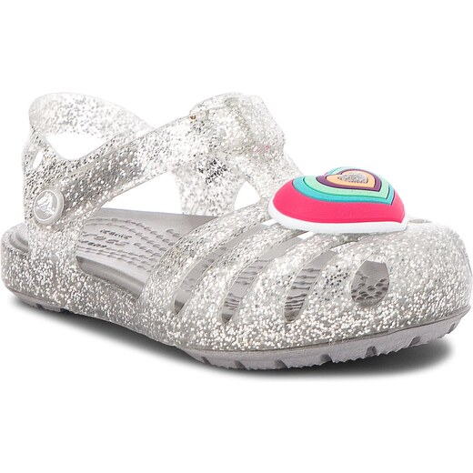 c0bf3a9f2 Sandály CROCS - Isabella Novelty Sandal 205038 Silver - Glami.cz