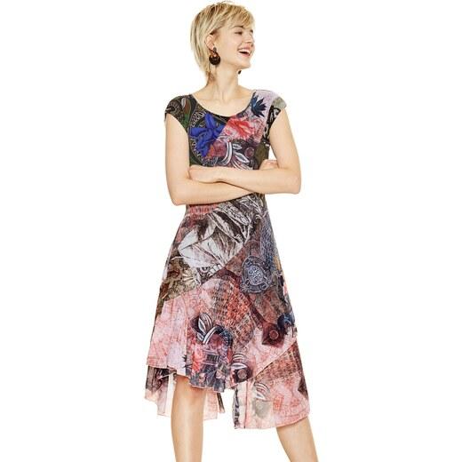 3e548b0d557d Desigual farebné šaty My Sweetheart - Glami.sk