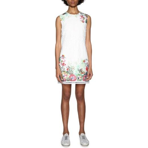 aa0a046520 Desigual fehér ruha Magarita színes motívumokkal - Glami.hu