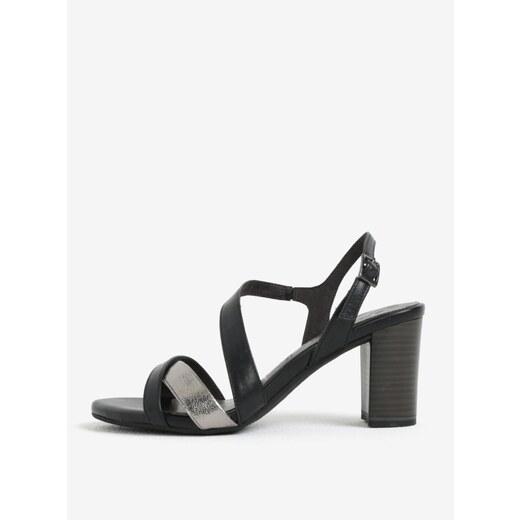 99d1d07b57 Čierne kožené sandálky Tamaris - Glami.sk