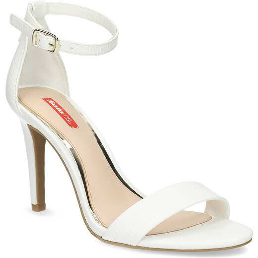 36252cc1463a Bata Red Label Biele sandále na ihličkovom podpätku - Glami.sk