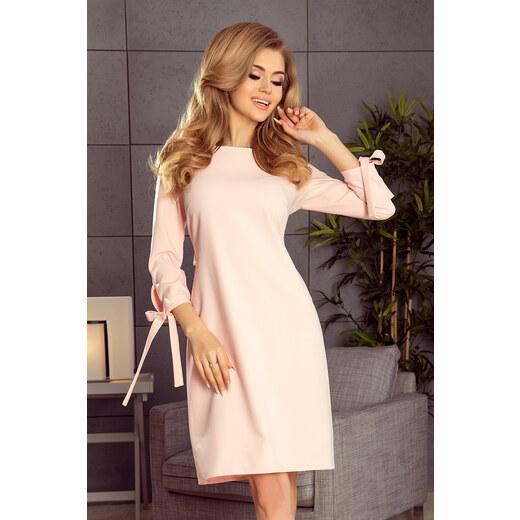 Numoco Elegantné šaty pastelové 195-2 - Glami.sk 74a12d973ab