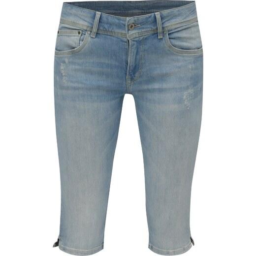 Modré dámské džínové straight kraťasy Pepe Jeans Saturn crop - Glami.cz 7b13e9bdb8