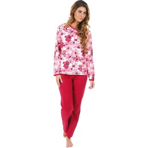 4d4be5cde EVONA a.s. Dámske pyžamo P1406 kvety ružové - P1406 373 S - Glami.sk