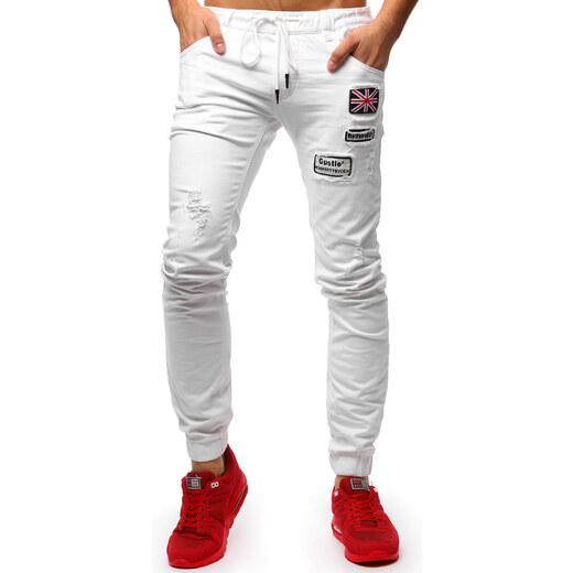 Pánské kalhoty Gorger bílé - bílá - Glami.cz 72142d1ca2