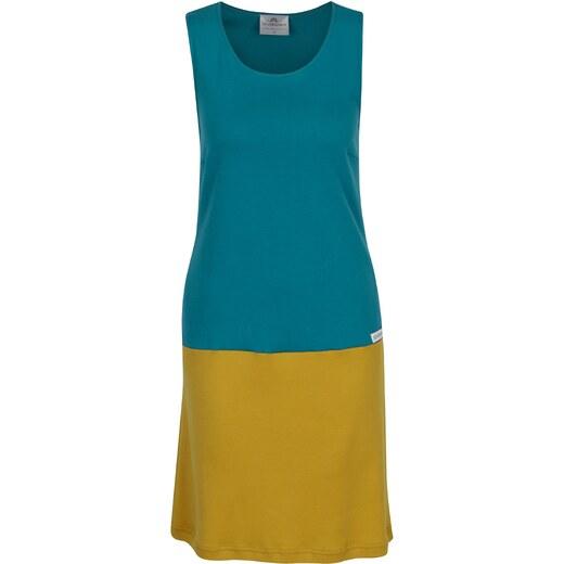 ff5e604cad4 Tyrkysovo-hořčicové šaty SEVERANKA - Glami.cz