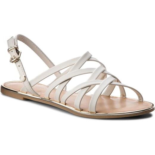 Sandály TOMMY HILFIGER - Leather Strappy Flat Sandal FW0FW02228 Whisper  White 121 - Glami.cz 7d7cfe2c6a