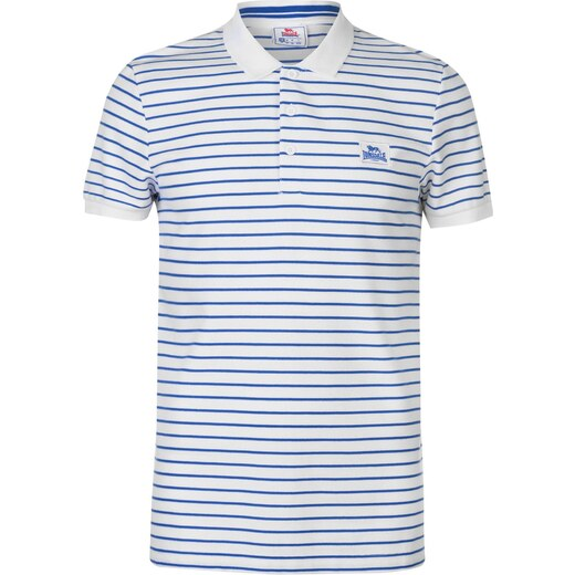 06b5c643690a Lonsdale Slim Polo Shirt Mens White Blue - Glami.cz