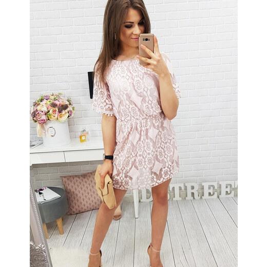 d5c1a8e2d0fe BASIC Dámské vyšívané růžové šaty BOHO BALI (ey0366) - Glami.cz