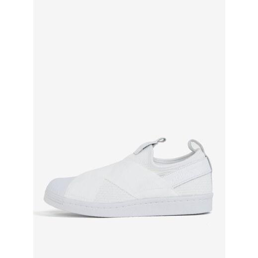 5581fb1f6fb Bílé dámské slip on s koženými detaily adidas Originals Superstar - Glami.cz
