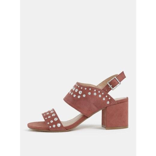 fb23086175e0 Staroružové sandálky v semišovej úprrave na podpätku Dorothy Perkins -  Glami.sk