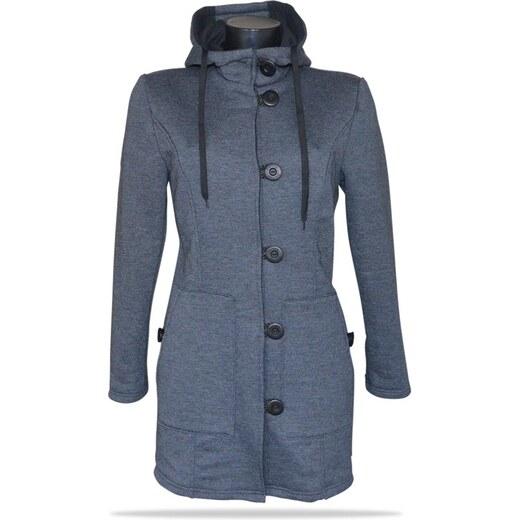 Dámský kabát propínací s kapucí Barrsa Princess Simple Coat Grey - Glami.cz 5575f194e0d
