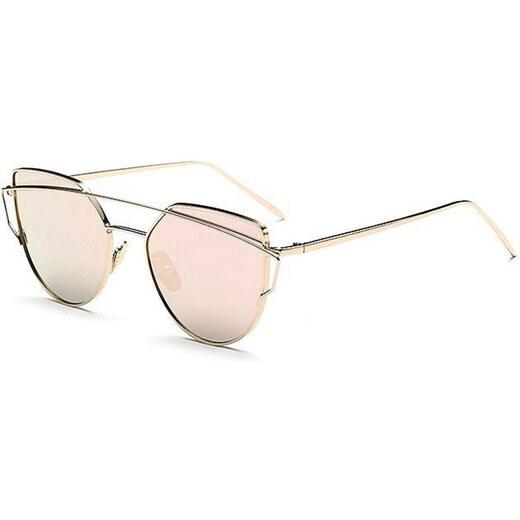 3af3ffed7 Carla Ružovo-zlaté slnečné okuliare Glam Rock Fashion - Glami.sk