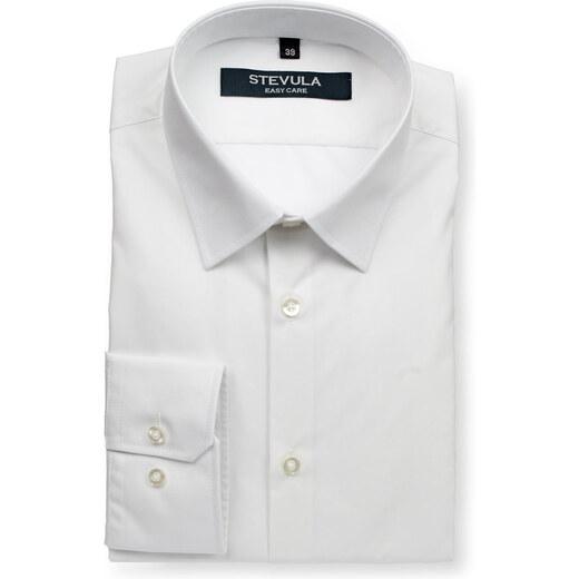 13868aa85f3a STEVULA Biela pánska košeľa do obleku Body fit - Glami.sk