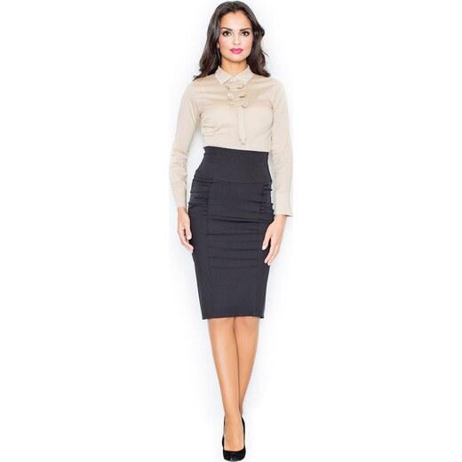 FIGL Černá pouzdrová sukně M044 - Glami.cz baa4cc4863