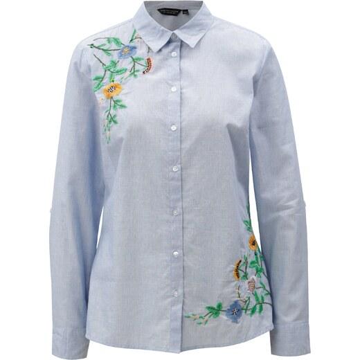 7b2abfc094d Světle modrá košile s výšivkou Dorothy Perkins - Glami.cz