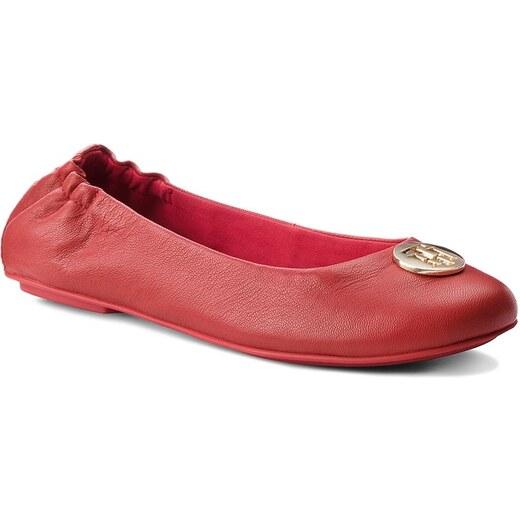 486f5a24554 Baleríny TOMMY HILFIGER - Flexible Ballerina Leather FW0FW03401 Tommy Red  645 - Glami.cz
