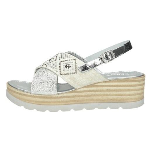 296c3d85c46f Cerutti dámske elegantné sandále s ozdobnými kamienkami - strieborné -  Glami.sk