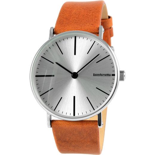 Lambretta Cesare Cognac Silver Watch - Glami.cz 1200f498867