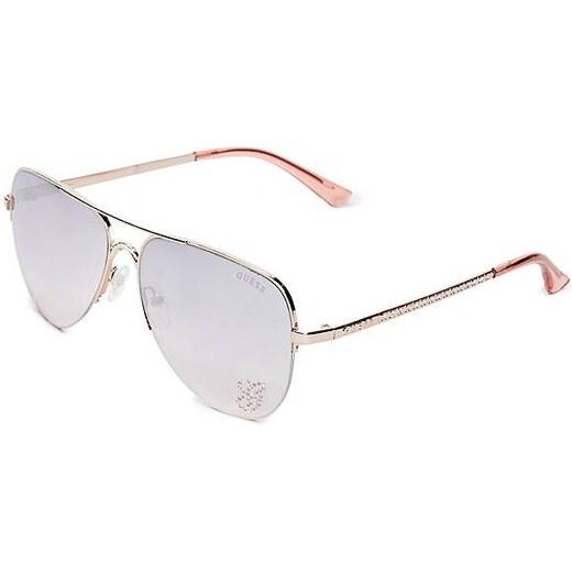 15f024123 GUESS okuliare Sparkle Metal Aviator Sunglasses rose gold, 11008 - Glami.sk